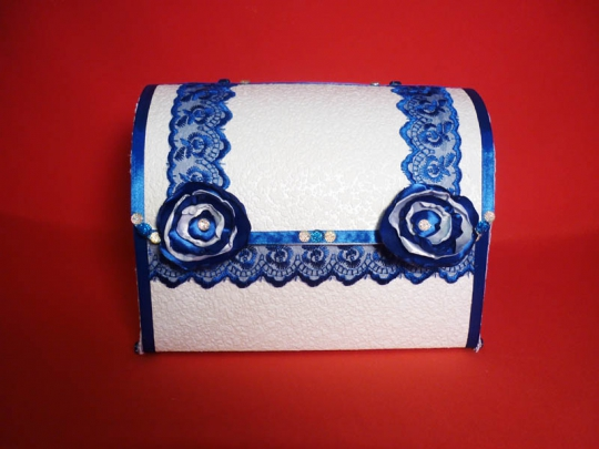 Сундук Анта №4 бело-синий разборный