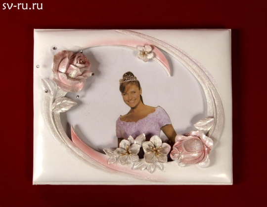 Книга пожеланий Розовая Роза, полистоунGL-142002