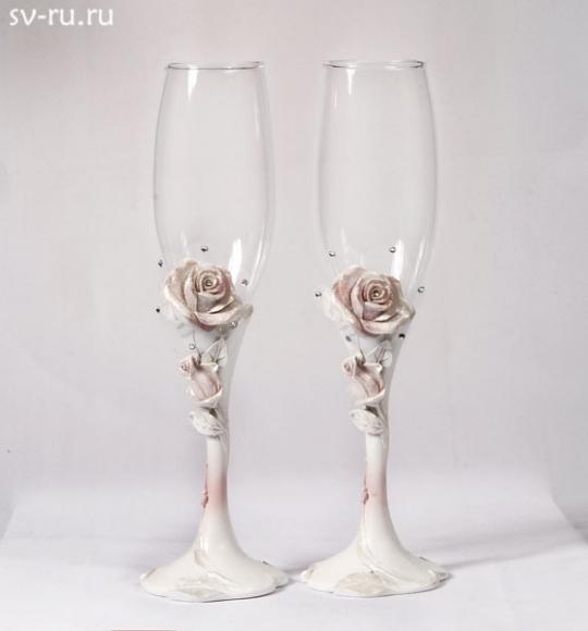 Св. бокалы Розовая Роза, полистоун GL-142000
