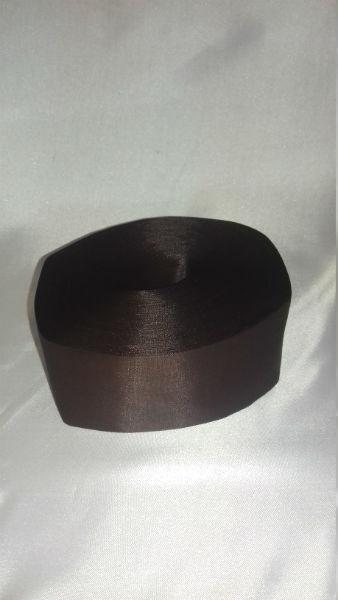 Лента полиэстер 5см/100м шоколад